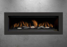 The Austin 65l Direct Vent Linear Real Fireplace